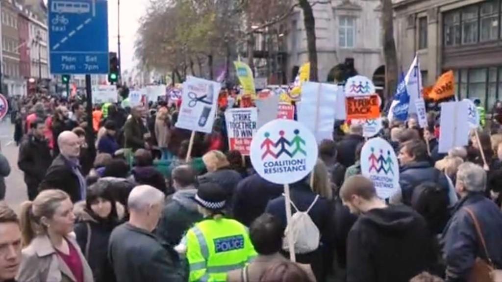 London on strike
