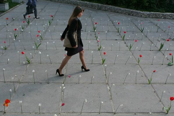 Oberliht public art project in Chisinau. Photo E-zeppelin.ro