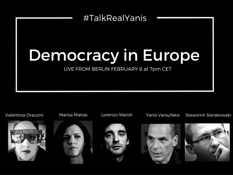 DiEM25 by Yanis Varoufakis