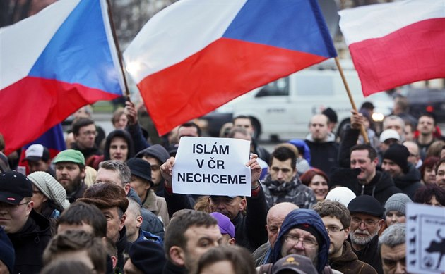 Anti-Islam demo Czech Republic