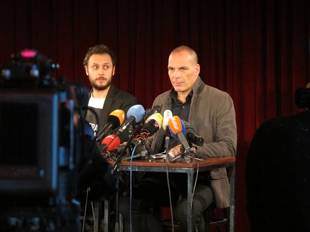 Horvat Varoufakis DiEM press conference
