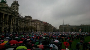 Protest of Hungarian Teachers Budapest