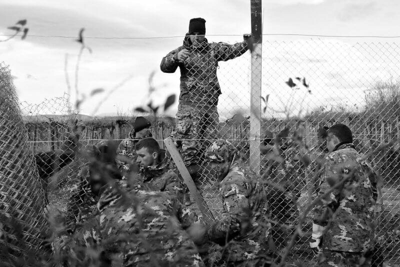Macedonian army on Greek-Macedonian border