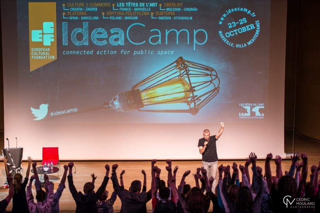 David Beckett at the Idea Camp 2014, photo by Cedric Moulard