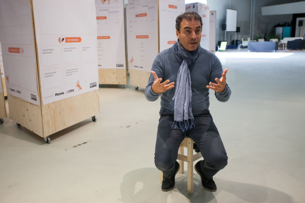Sam Khebizi at the Idea Camp 2015. Photo by Julio Albarrán.