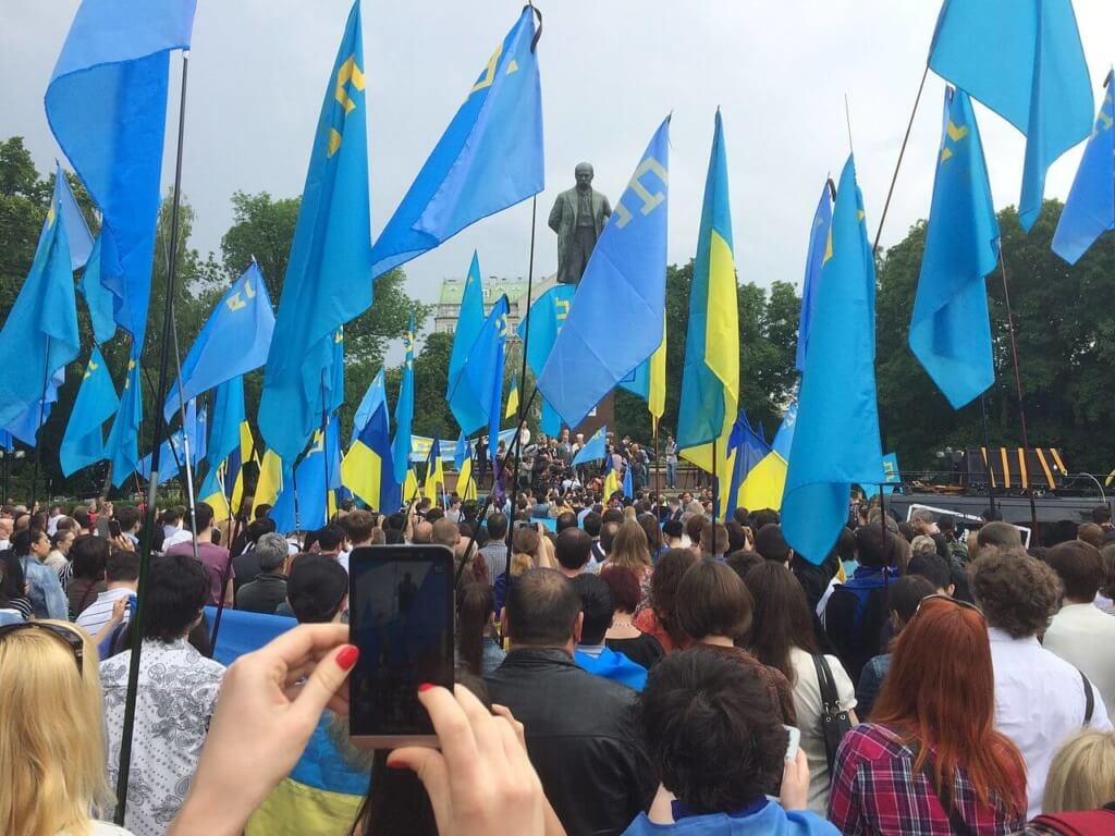 Crimean tatars rally