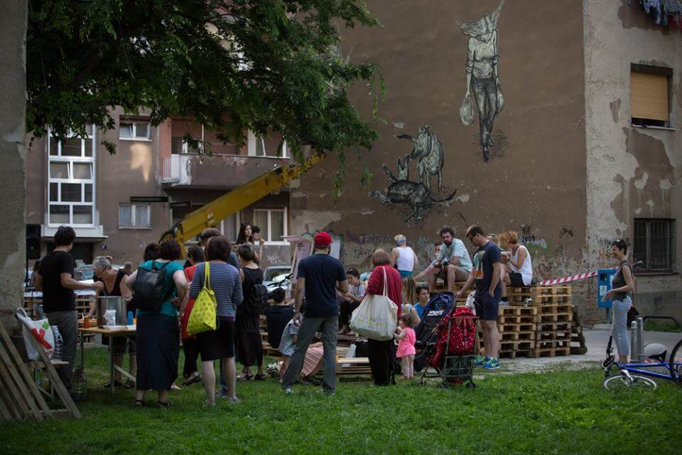 Street mural, Open City. Photo by Miron Milić.