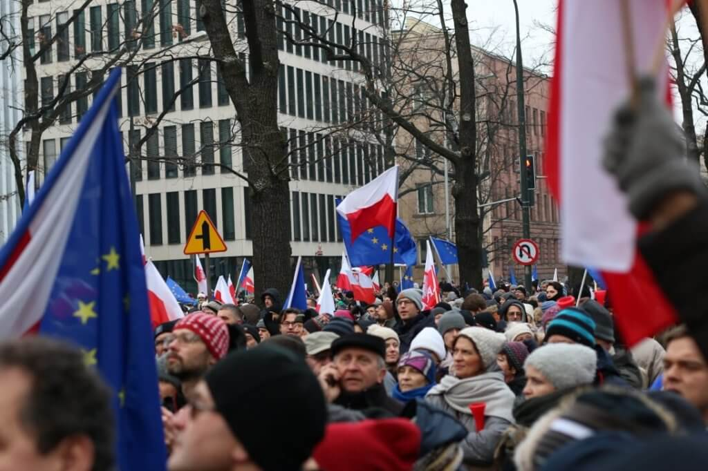 anti-government protests poland