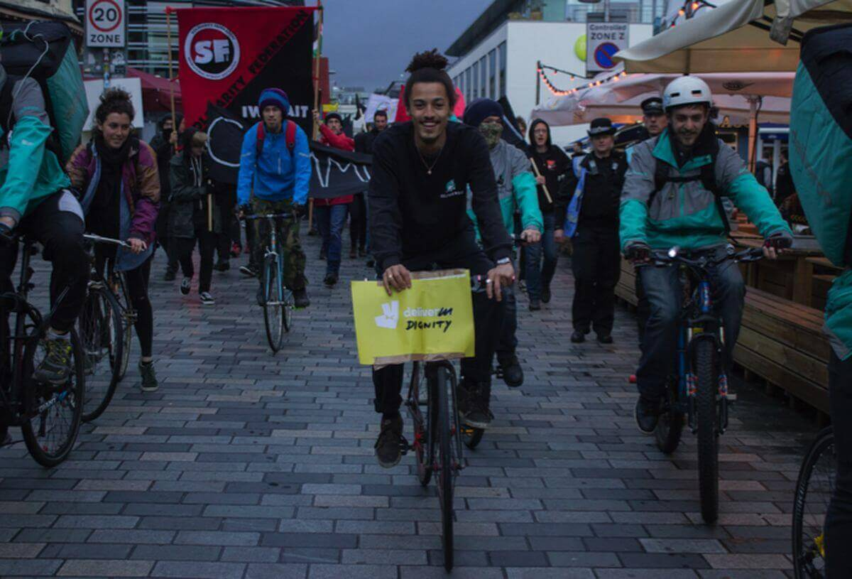 Precarious couriers are leading the struggle against