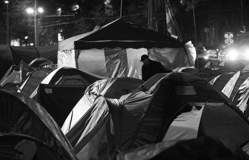 Encampment in Chisinau, Moldova. Photo by Kiritan Flux
