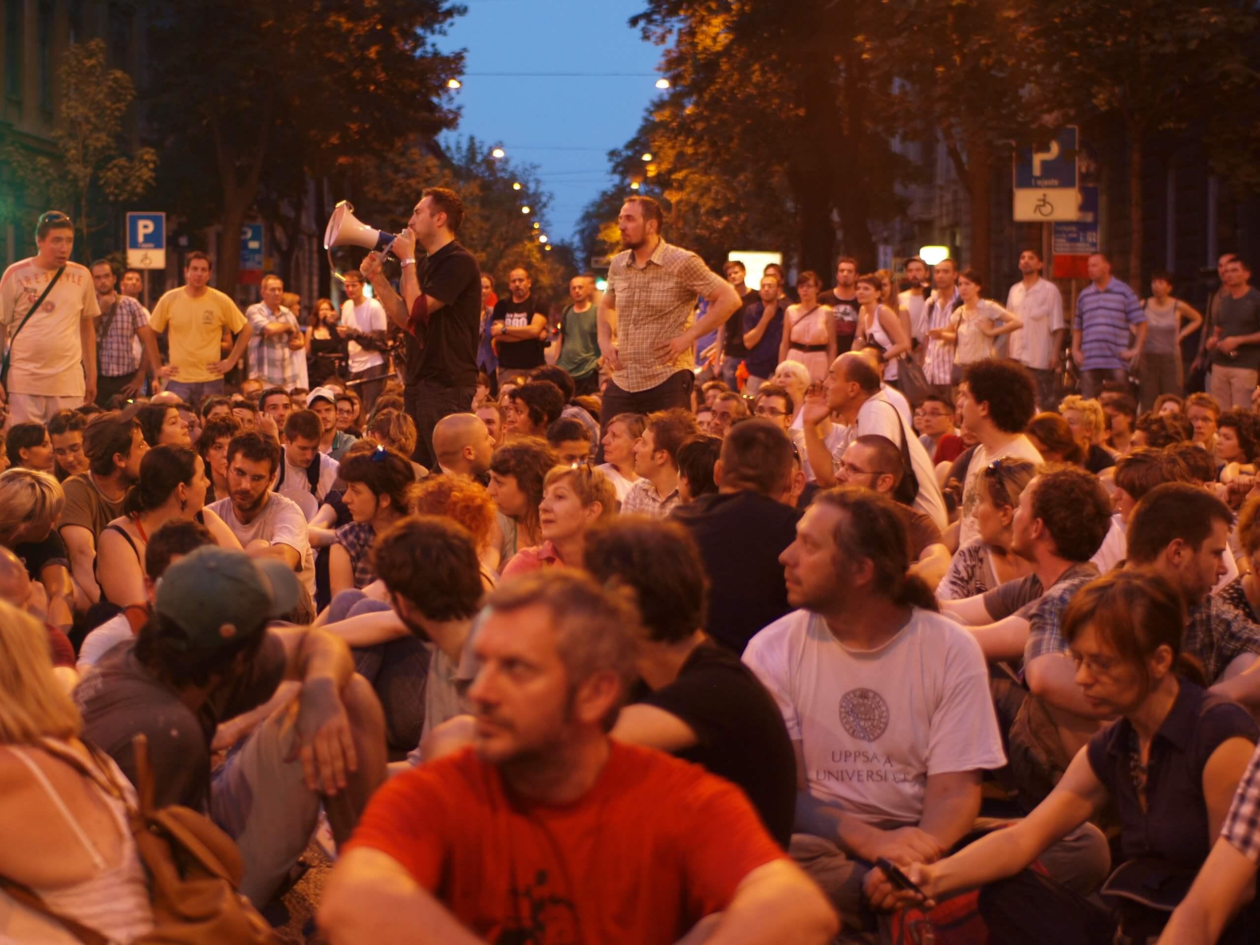 Protest for Varšavska Street in 2010 by Tomislav Medak