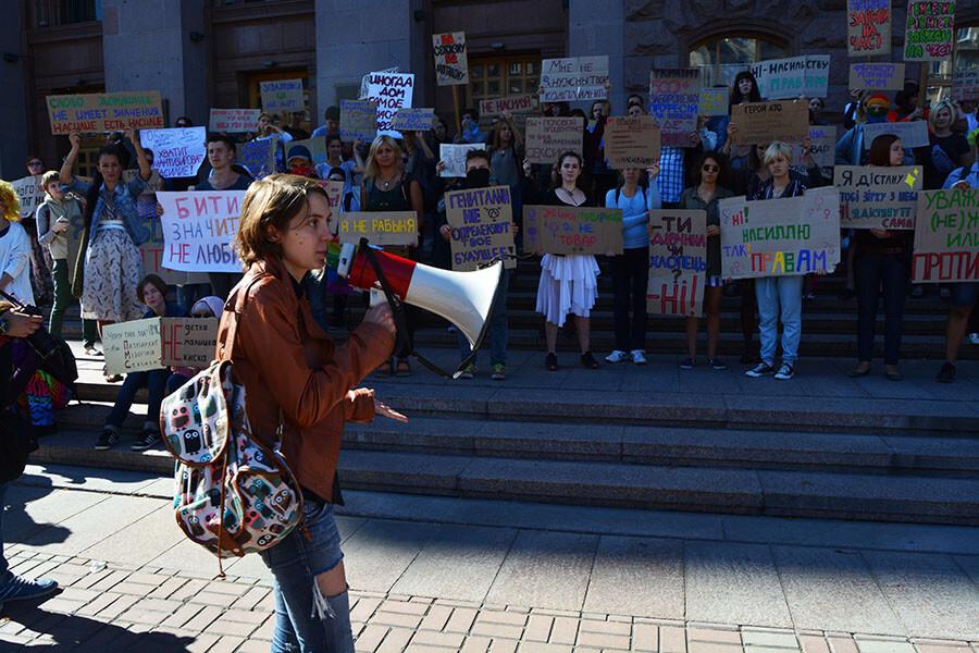 I am Not Afraid Ukraine protest