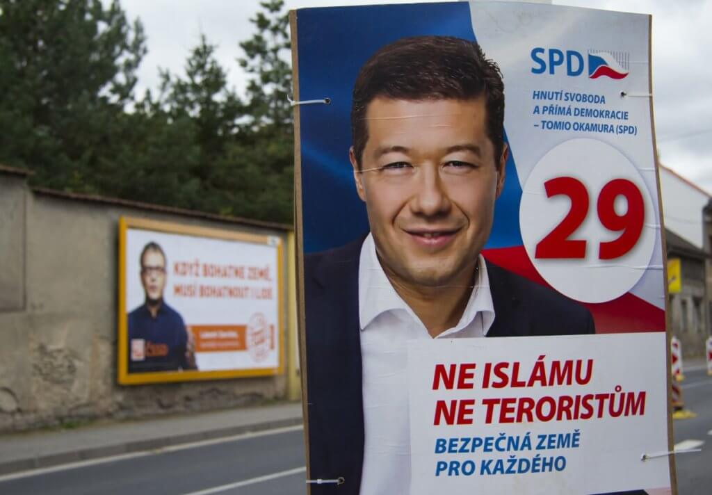 Nationalist and anti-Islam scaremongerer Tomio Okamura is running an intense campaign in Kladno.