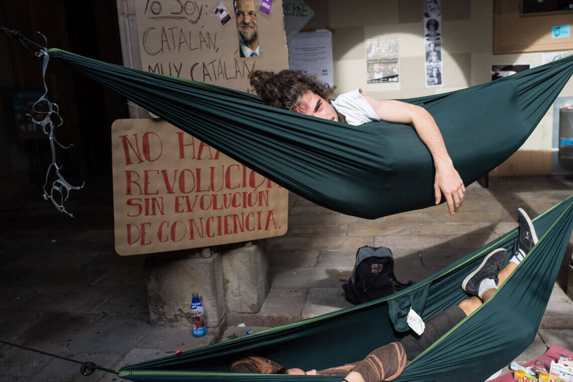 Pro-independence protesters in Barcelona. Photo by Jakub Szafranski, 2017